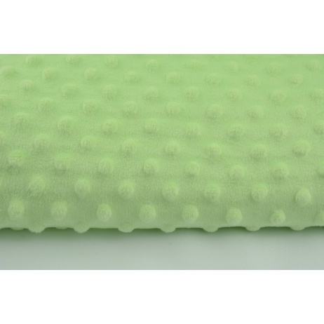 Dimple dot fleece minky in pistachio color