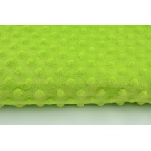 Dimple dot fleece minky in neon green color