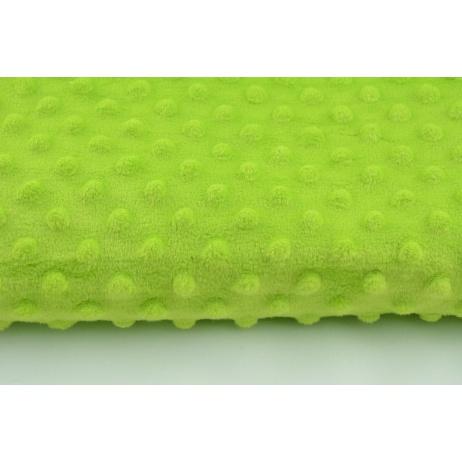 Dimple dot fleece minky in neon green color