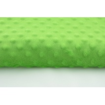Dimple dot fleece minky in green color