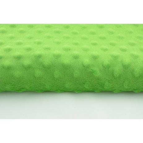 Dimple dot fleece minky in green color