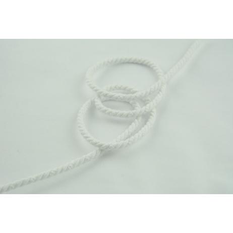 Sznurek bawełniany biały o średnicy 6mm