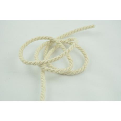 Sznurek bawełniany naturalny o średnicy 6mm