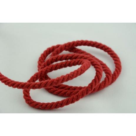 Sznurek bawełniany czerwony o średnicy 6mm