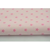 Cotton 100% dark pink stars on a pink background