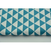 Bawełna 100% trójkąty petrol II jakość
