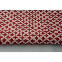 Bawełna 100% mini maroko czerwone