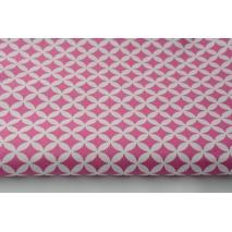 Cotton 100% mini dark pink morocco