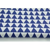 Bawełna 100% trójkąty 3cm granatowe