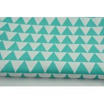 Bawełna 100% trójkąty 3cm morskie