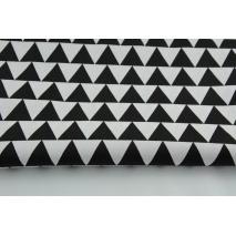 Bawełna 100% trójkąty 3cm czarne