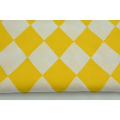 Bawełna 100% żółte romby 9cm