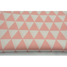 Cotton 100% coral triangles on a white background