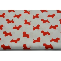 Cotton 100% red terriers on a white background