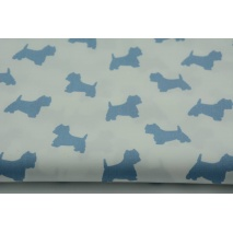 Cotton 100% blue terriers on a white background