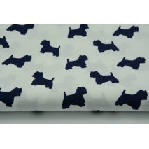 Cotton 100% navy terriers on a white background