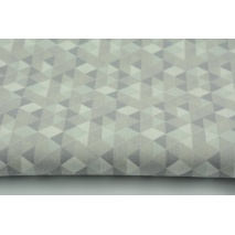 Bawełna 100% mini trójkąty szaro-beżowe