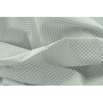 Cotton 100% gray 3mm polka dots on a white background