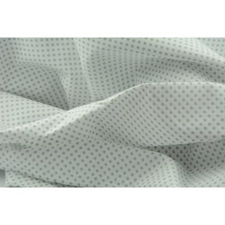 Bawełna 100% biała w szare kropeczki 3mm