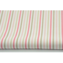 Cotton 100% stripes beige-pink