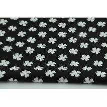 100% cotton leaf clover on a black background