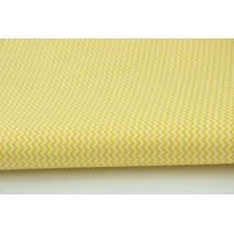 Bawełna 100% mini zygzak żółty