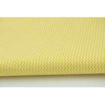 Cotton 100% yellow mini zigzag chevron