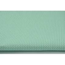 Cotton 100% mint mini zigzag chevron