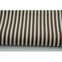 Cotton 100% stripes 5mm chocolate brown