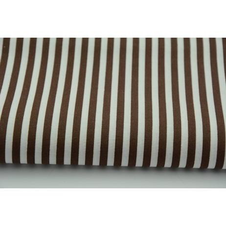 Cotton 100% stripes 5mm dark gray