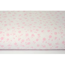 Cotton 100% pink meadow on a white background, small flowers