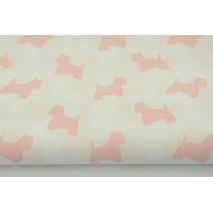 Cotton 100% coral terriers on a white background