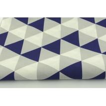 Bawełna 100% trójkąty granatowo-szare