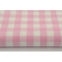 Bawełna 100% kratka vichy, dwustronna różowa 2cm