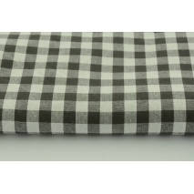 Cotton 100% double-sided gray-brown vichy check 1cm