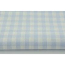 Bawełna 100% kratka vichy, dwustronna niebieska 1cm