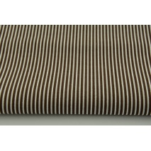 Cotton 100% brown stripes 2x1mm