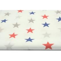 Bawełna 100% 4cm gwiazdy granatowo-czerwone