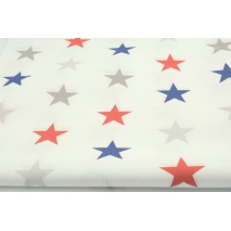 Cotton 100% navy and red 4cm stars