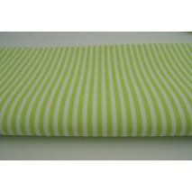 Bawełna 100% paski zielone 3mm