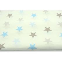 Bawełna 100% 4cm gwiazdy niebiesko-szare