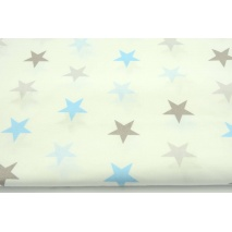 Cotton 100% blue and gray 4cm stars