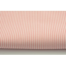 Cotton 100% coral pink stripes 2x1mm
