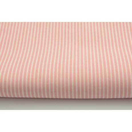 Cotton 100% coral pink stripes 2x1mm