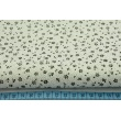 Cotton 100% blue meadow on a white background, small flowers