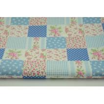 Bawełna 100% patchwork niebieski