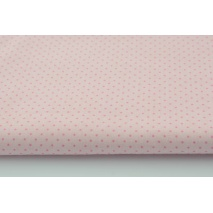 Cotton 100% mini dots pink on a pale pink background