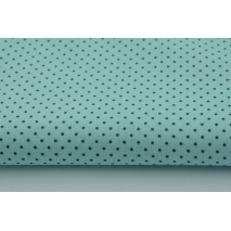 Cotton 100% gray mini dots on a turquoise background