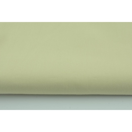 Drill, 100% cotton fabric in plain beige colour