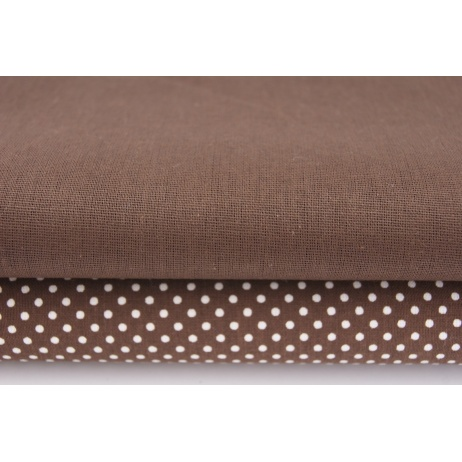 Cotton 100% plain chocolate brown
